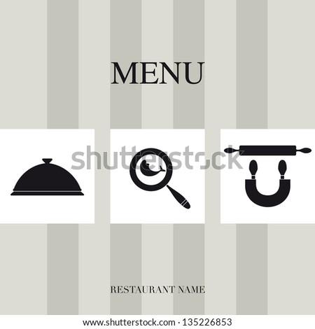 Menu for restaurant - stock vector