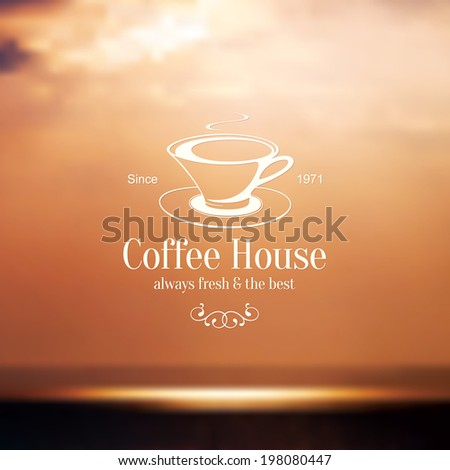 Menu for restaurant, cafe, coffee house on blurred background - stock vector