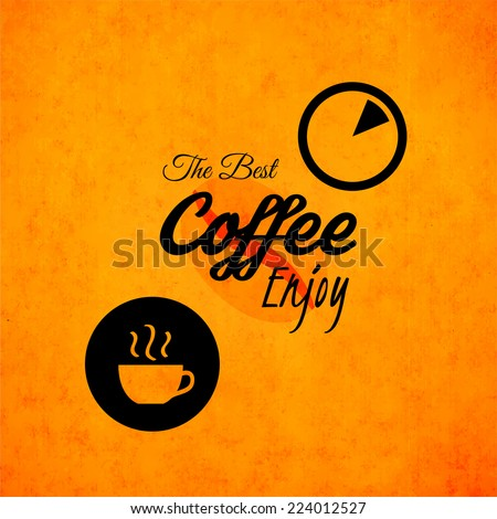 Menu for restaurant, the best coffee enjoy, use for cafe, bar of coffeehouse, vector illustration - stock vector