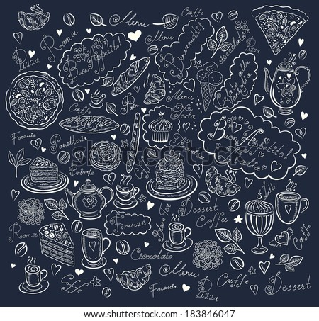 Menu icons - stock vector