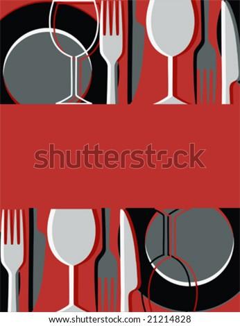 Menu or restaurant card (vector) - stock vector