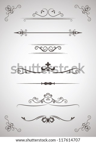 Menu Ornament elements - stock vector