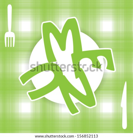 Menus and green business cards for restaurant - stock vector