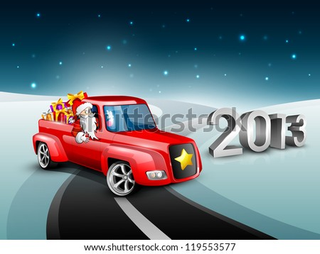 Merry Christmas and Happy New Year background. EPS 10. - stock vector