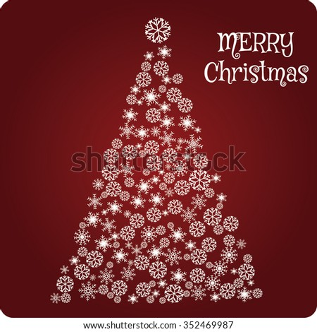 Merry christmas and happy new year fancy white xmas tree. Ideal for greeting card or elegant holiday party invitation. EPS10 vector. - stock vector - stock vector