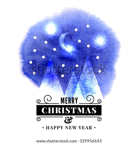 Merry Christmas background. Happy New Year card. Vector illustration - stock vector