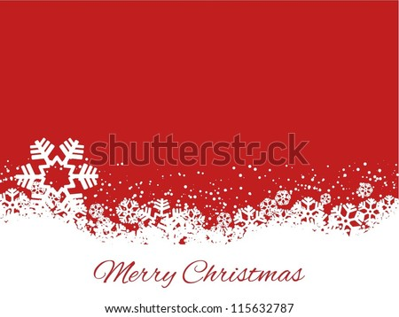 Merry Christmas background with snowflakes - stock vector