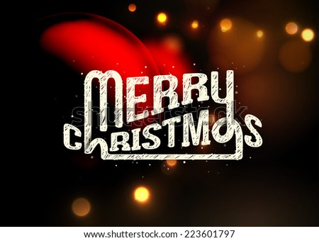 Merry Christmas, blurred background, eps 10 - stock vector