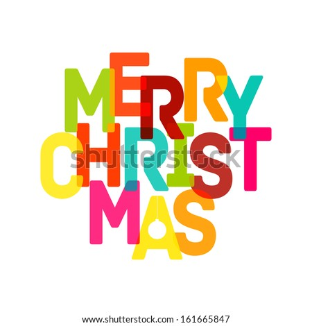Merry Christmas Card - Vector illustration EPS10 - stock vector