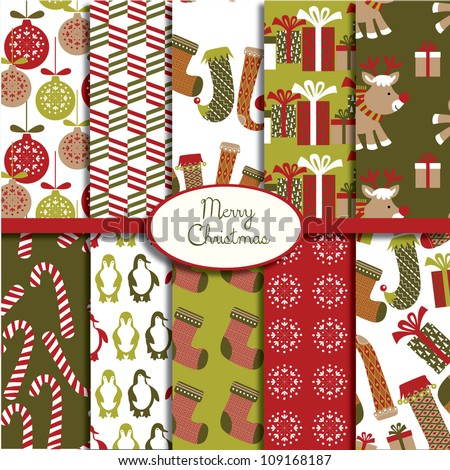Merry Christmas Collection - stock vector