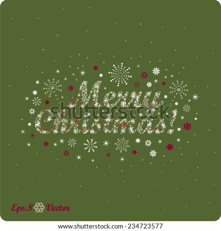 Merry Christmas! Composed of Christmas icons. eps8 - stock vector