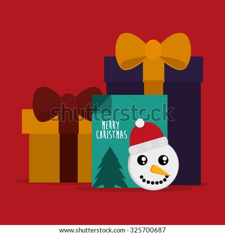 Merry Christmas concept with decoration icons design, vector illustration 10 eps graphic. - stock vector