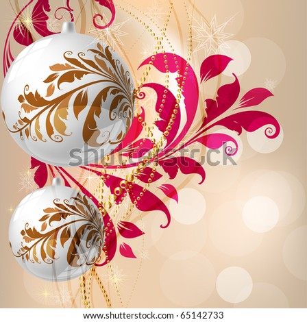 Merry Christmas Elegant Background for Greetings Card - stock vector