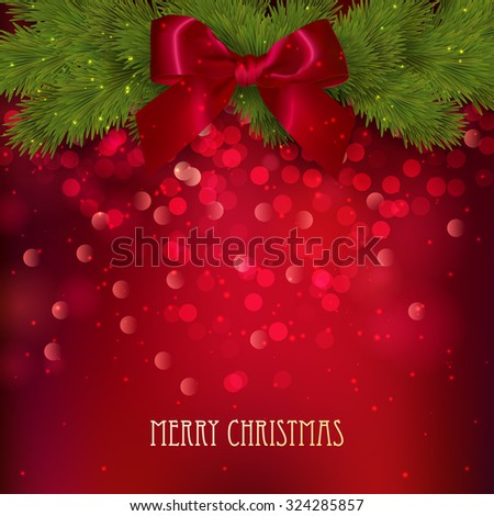 Merry Christmas festive background. Vector illustration - stock vector