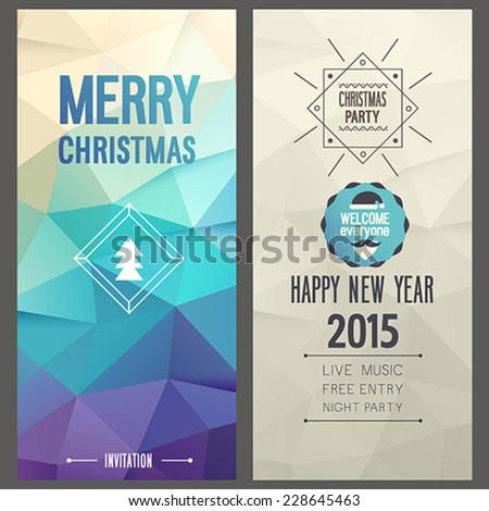 Merry Christmas flyer. Vector illustration. - stock vector