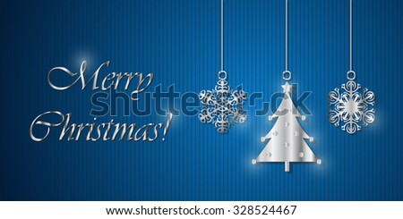 Merry Christmas! - greeting card - stock vector