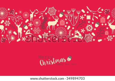 Merry Christmas, Happy New Year - stock vector
