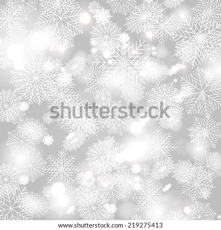 Merry Christmas Landscape. Vector Christmas retro greeting card and background - stock vector