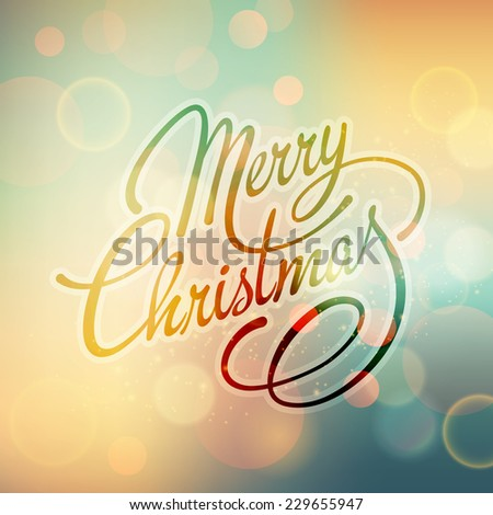 Merry Christmas Lettering Design. Vector illustration. - stock vector