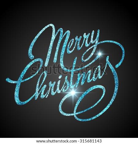 Merry Christmas Lettering Design. Vector illustration. EPS 10 - stock vector