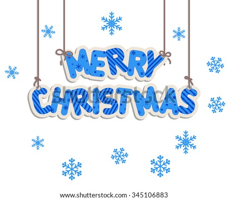 Merry Christmas lettering. Vector illustration for Christmas design.  - stock vector