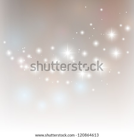 Merry Christmas starry vector background - stock vector