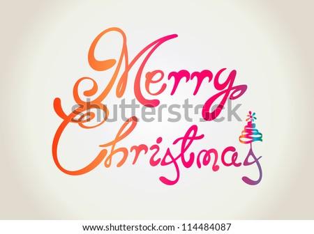Merry Christmas text design - stock vector