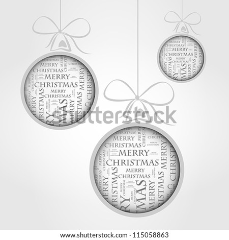 merry christmas text. merry christmas text concept - stock vector