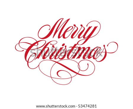Merry Christmas Vector Lettering - stock vector