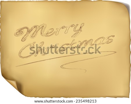 Merry Christmas with handwriting vector - stock vector