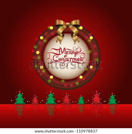 Merry Xmas - stock vector