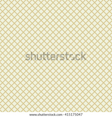 Mesh or cage lines background. Seamless lined grid pattern. Vector illustration. - stock vector