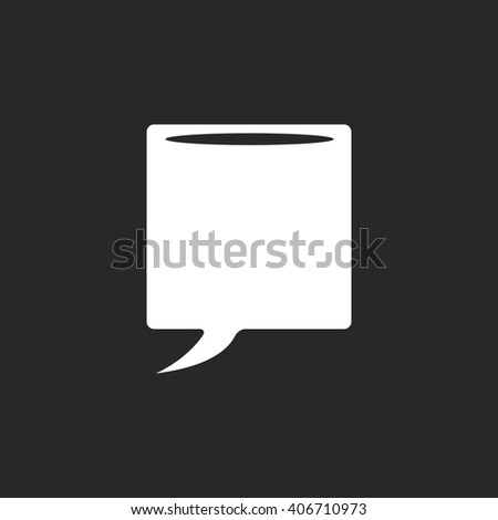 Message bubble sign simple icon on background - stock vector