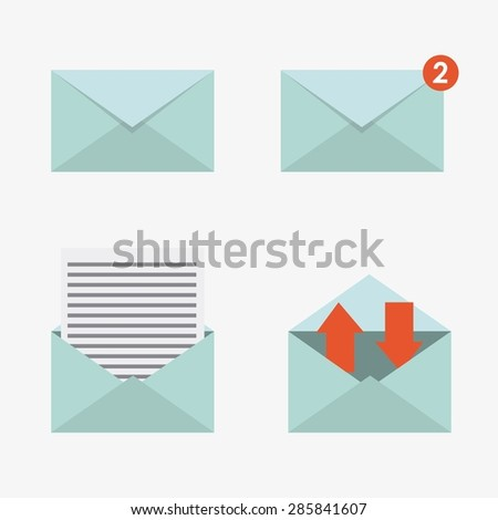 message concept design, vector illustration eps10 graphic  - stock vector
