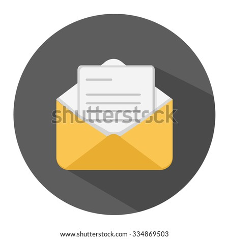 message flat icon - stock vector
