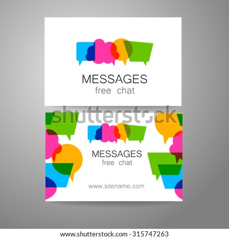 Messages - logo. The idea for the design of the mark. Logo for chat, social networking site, a Foreign Language School, email correspondence, and others. - stock vector