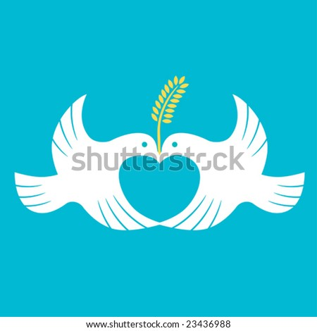 Messenger of love and peace - stock vector