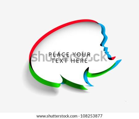 messenger window label, vector illustration isolated on white background. - stock vector