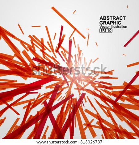 Messy abstract background. - stock vector