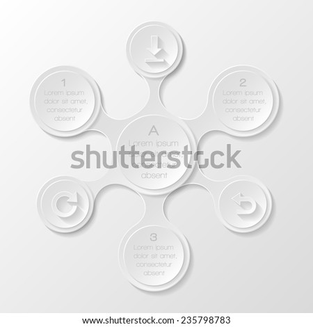 Metaball infographic elements. Vector illustration  - stock vector