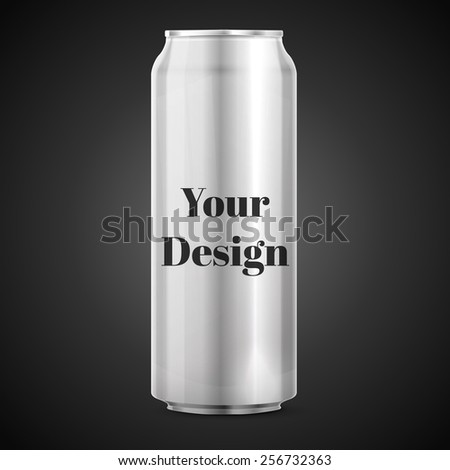 Metal Aluminum Beverage Drink Can. Ready For Your Design. Product Packing Vector EPS10 - stock vector