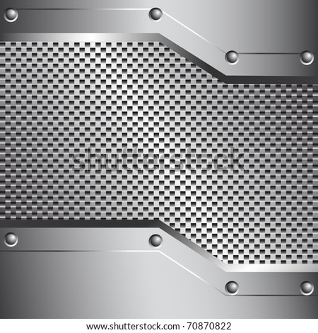 Metal background for your design - stock vector