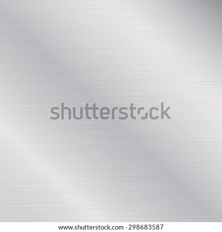 Metal background or texture of brushed aluminum plate - stock vector