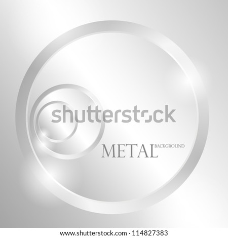 Metal background with circles. EPS10 Vector. - stock vector
