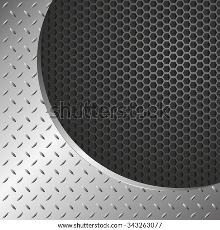 metal background with grate texture - stock vector