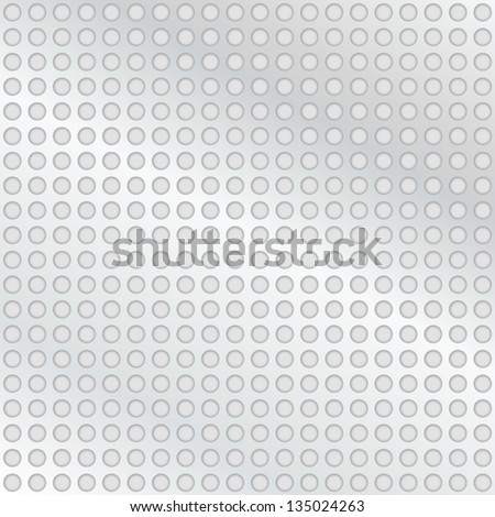 Metal background with holes - stock vector