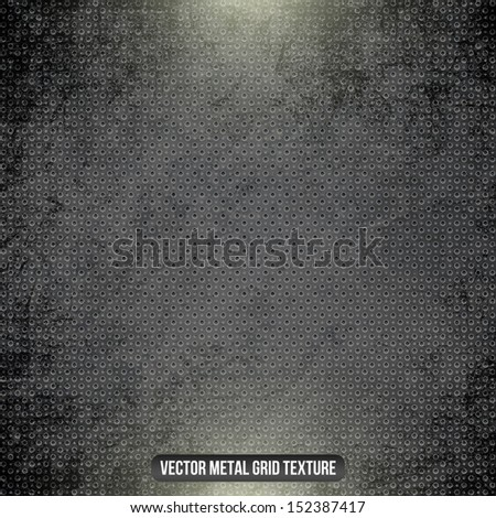 Metal black vector grid - stock vector