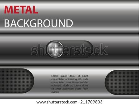 metal chrome vector background  - stock vector