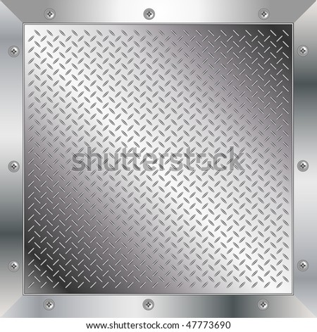 Metal diamond plate - stock vector