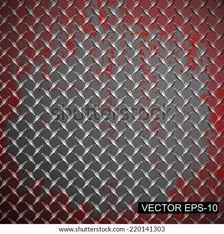 Metal diamond plate.abstract industrial background.Vector illustration  - stock vector